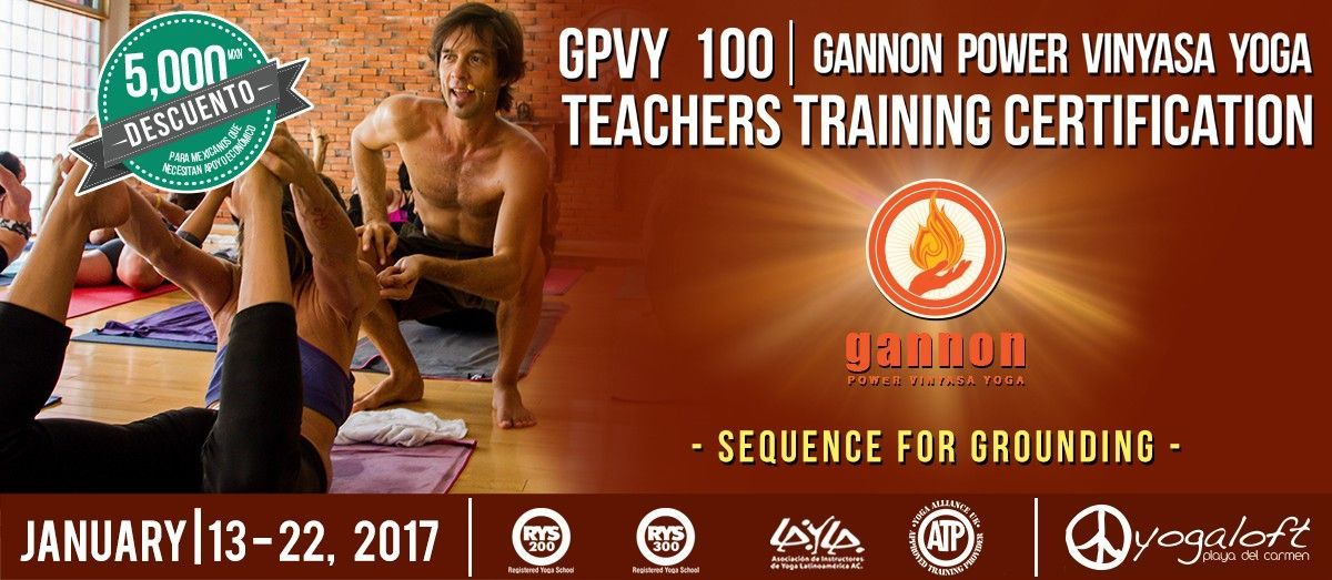 GPVY 200 Gannon Power Vinyasa Yoga Teacher Training Certification